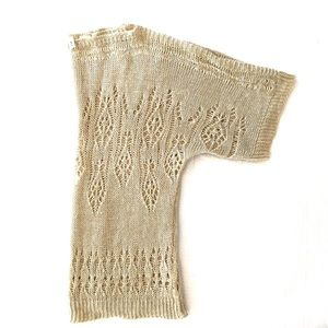 Anthro | Of The Ages Linen Open Knit Sweater MOTH